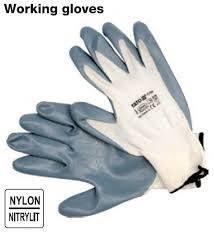 Перчатки рабочие - белые YATO YT-7474