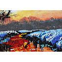 """Набор-миди для вышивки бисером на натуральном художественном холсте """"Заря вечерняя"""", фото 3"""