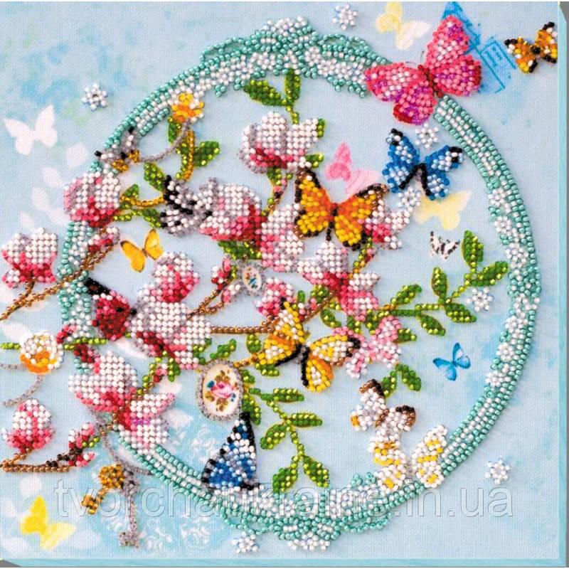 """Набор-миди для вышивки бисером на натуральном художественном холсте """"Ключи от весны"""""""