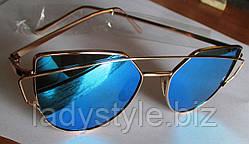 Очки солнцезащитные  голубые от студии LadyStyle.Biz
