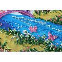 """Набор-миди для вышивки бисером на натуральном художественном холсте """"Мостик в весну"""", фото 5"""
