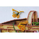 """Набор-миди для вышивки бисером на натуральном художественном холсте """"Ранние цветочки"""", фото 2"""