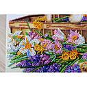 """Набор-миди для вышивки бисером на натуральном художественном холсте """"Ранние цветочки"""", фото 4"""