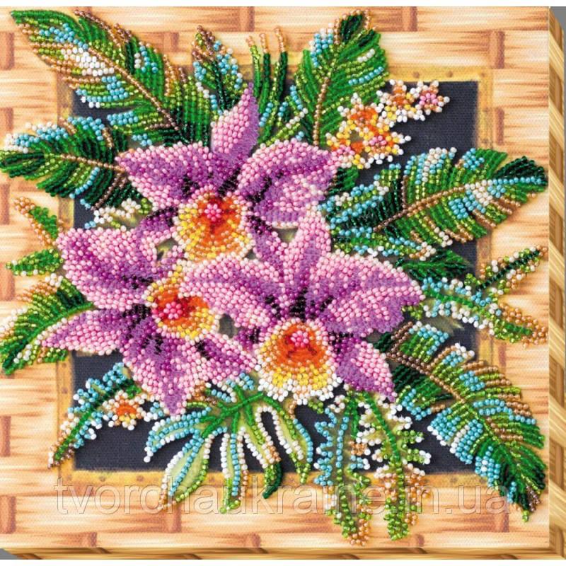 """Набор-миди для вышивки бисером на натуральном художественном холсте """"Каттлея"""""""