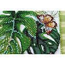 """Набор-миди для вышивки бисером на натуральном художественном холсте """"Монстера"""", фото 3"""