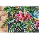 """Набор-миди для вышивки бисером на натуральном художественном холсте """"Попугаи лори"""", фото 4"""