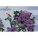 """Набор-миди для вышивки бисером на натуральном художественном холсте """"Романтический сад"""", фото 3"""
