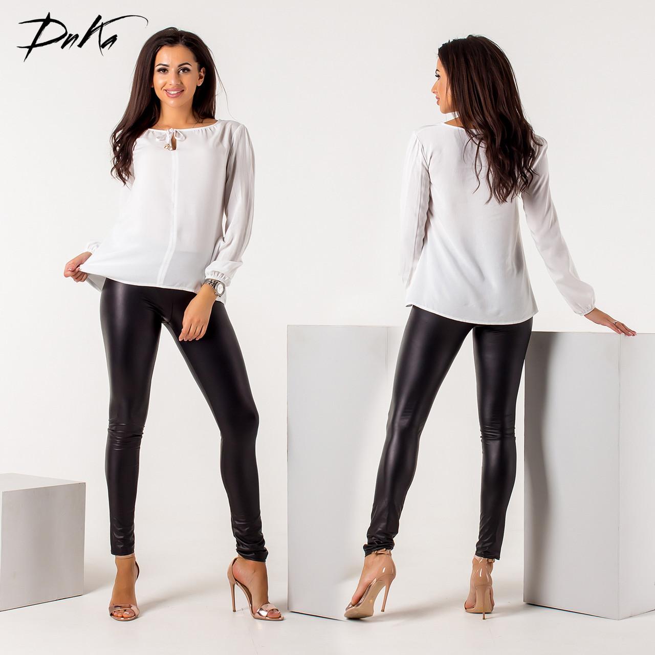 Легкая блуза с длинным рукавом