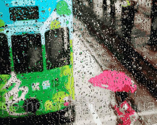 Картина по номерам дождь в городе