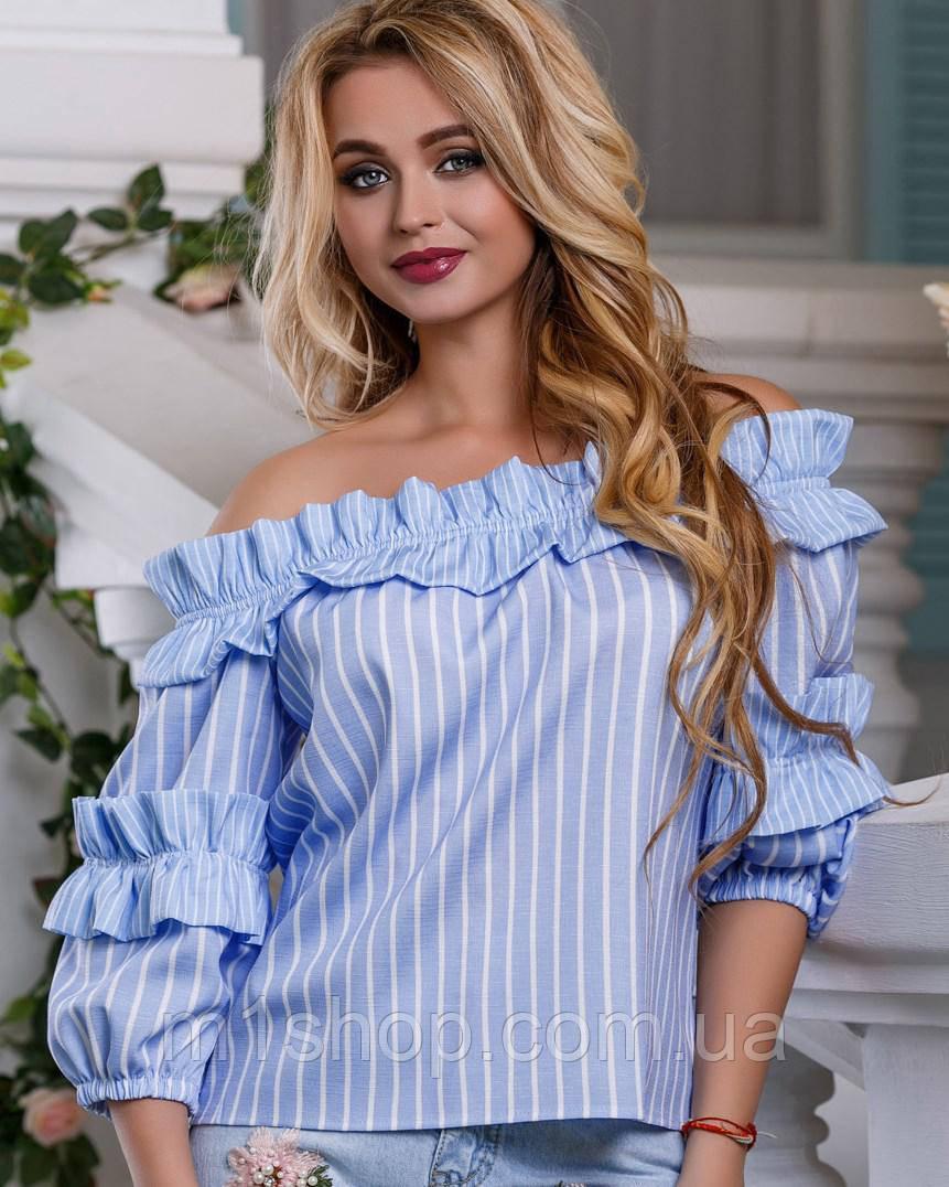 Женская блузка из хлопка с открытыми плечами (2629-2631-2630 svt)