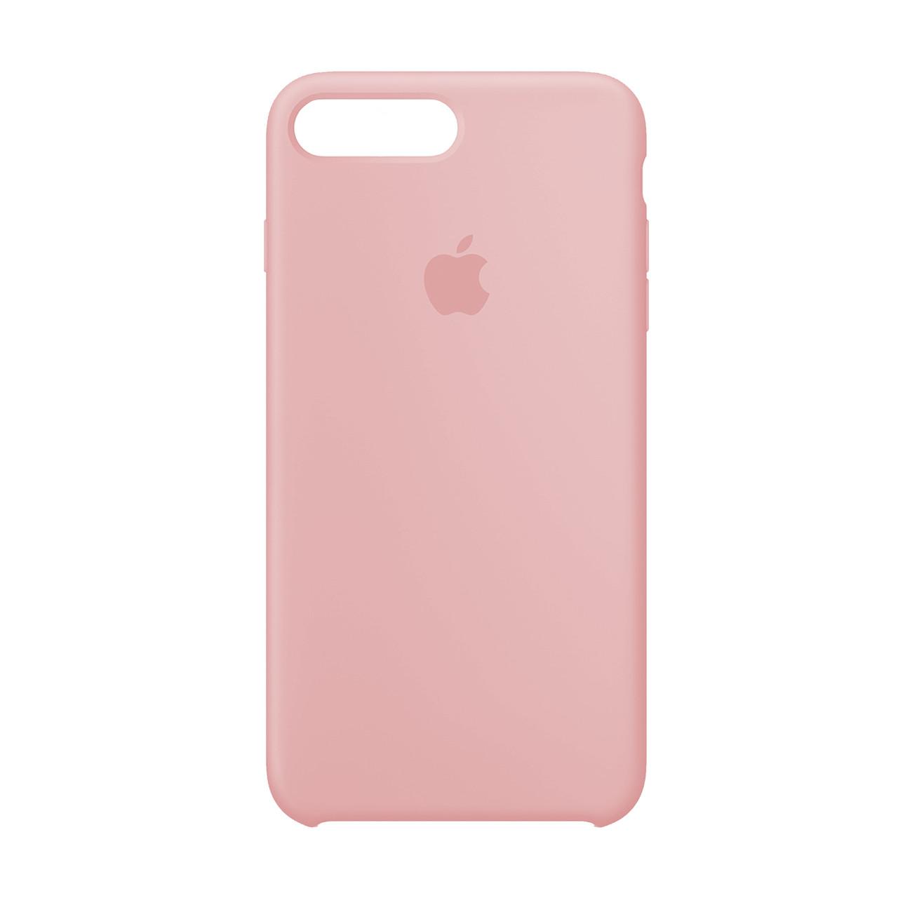 Оригинальный силиконовый чехол для Apple iPhone 7 Plus / 8 Plus Silicone case (Розовый)