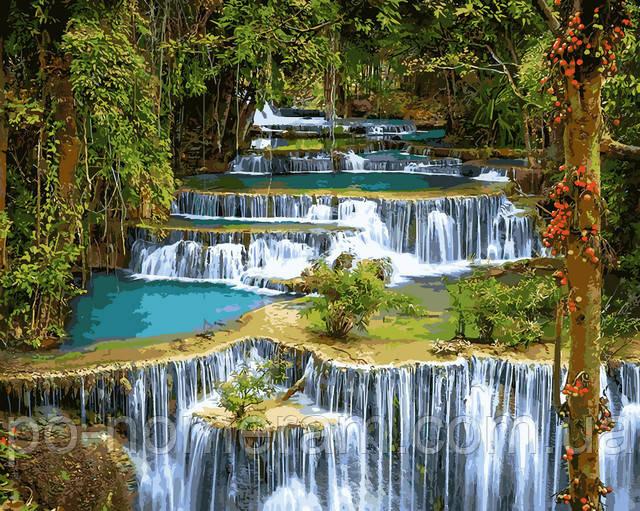 картины по номерам водопад