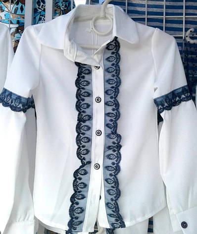 c20adae13a7 Блузка для девочки с длинным рукавом р.122-146 белая