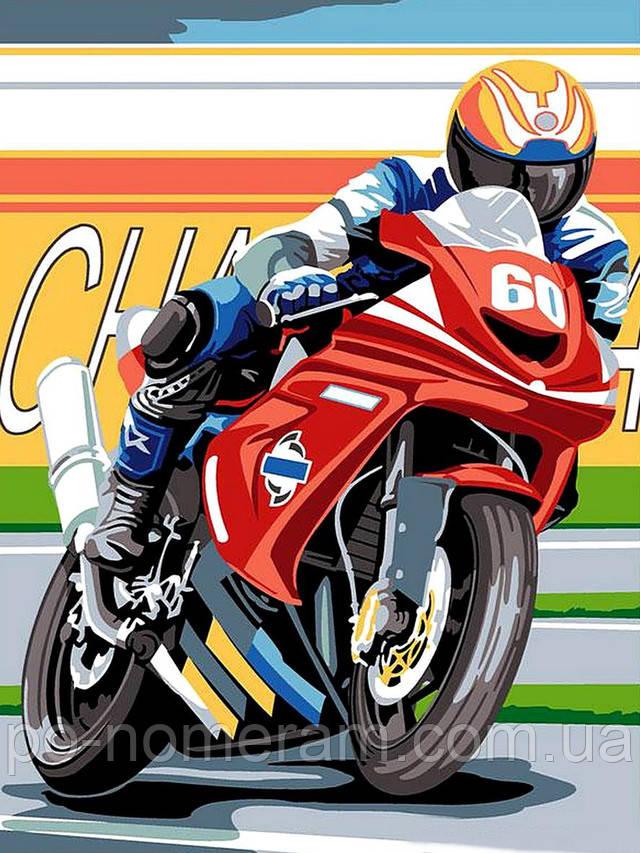Раскраска для мальчика мотоцикл