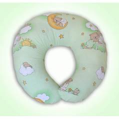 Подушки для кормления ребенка, для беременных (салатовые расцветки)