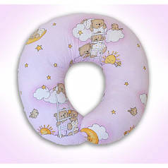 Подушки для кормления ребенка, для беременных (розовые расцветки)
