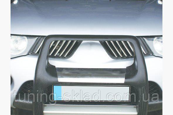 Хром накладки на решетку радиатора Mitsubishi L200 2006_2015 (Митсубиси Л200)