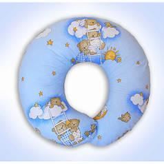 Подушки для кормления ребенка, для беременных (голубые расцветки)