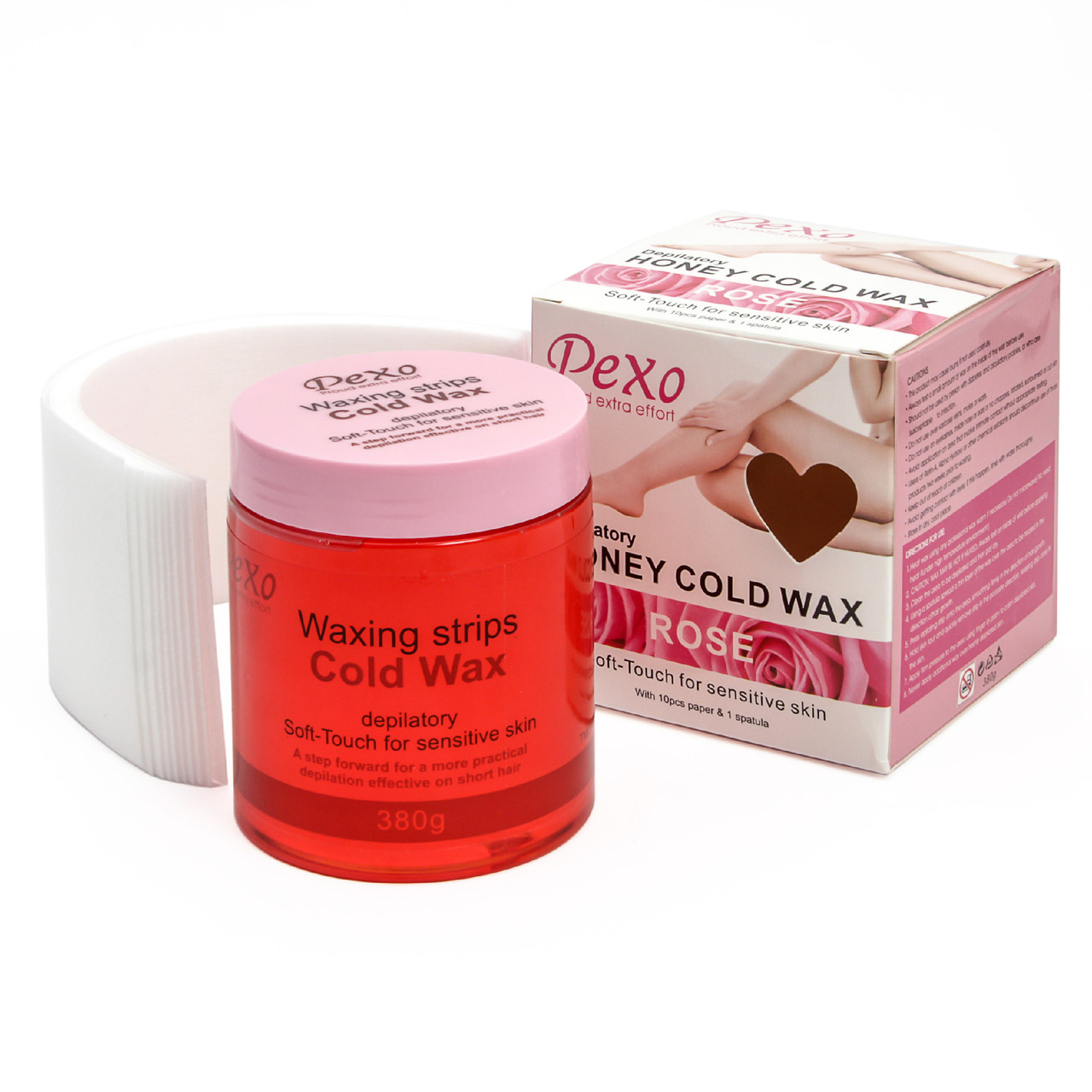 Холодный воск для депиляции Wokali Pexo Depilatory Honey Cold Wax rose
