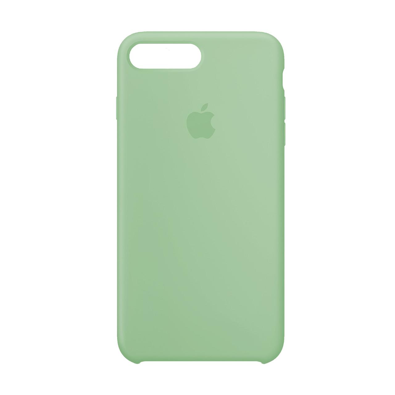 Оригинальный силиконовый чехол для Apple iPhone 7 Plus / 8 Plus Silicone case (Мятный)