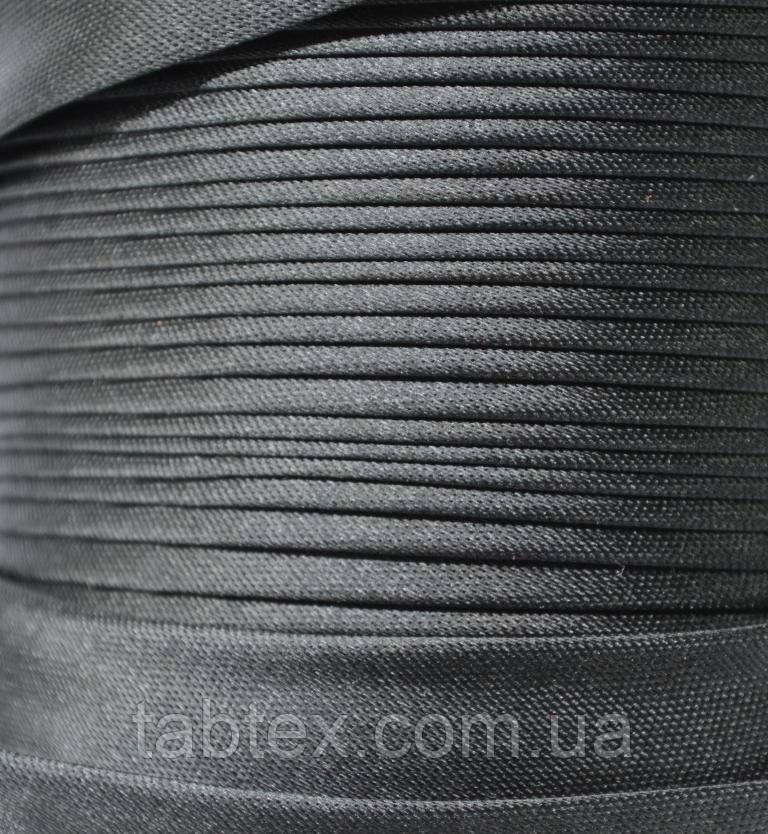 "Бейка косая ""Kotex"", черная атласная 110 ярд. (100,60 м)"