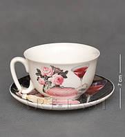 Чашка с блюдцем Романтика WAB-02-16