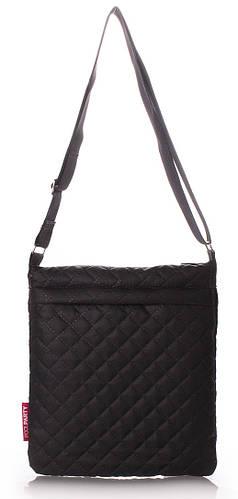 Женская стеганая сумка-планшет POOLPARTY Арт.pool-59-eco-black черная