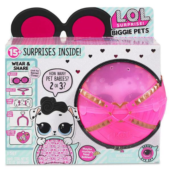 L.O.L. Surprise! сюрприз в шаре серии Секретные месседжи Любимец BIG Глем Догги Biggie Pet-Dollmation