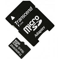 Карта памяти microSDHC 16GB Transcend Class10 + SD адаптер