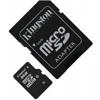 Карта памяти microSDHC 8GB Kingston Class10 + SD адаптер