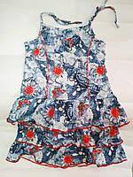 Сарафан джинс для девочки 7-8  лет