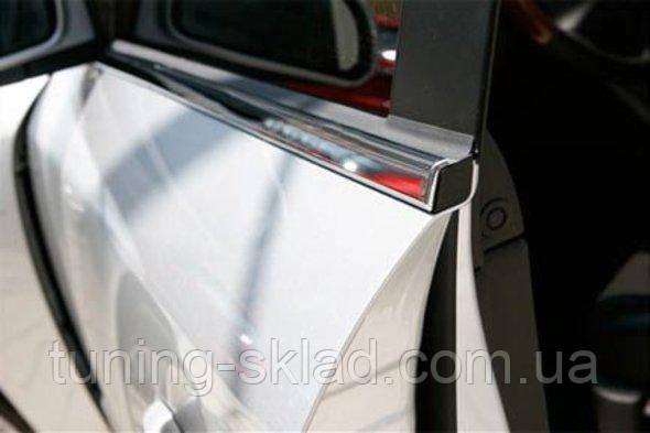 Хром нижняя окантовка окон Mitsubishi Outlander 2001-2008  (Митсубиси Оутлендер)