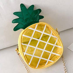 Сумка на плечо ананасик ананас  в наличии прозрачная сумка