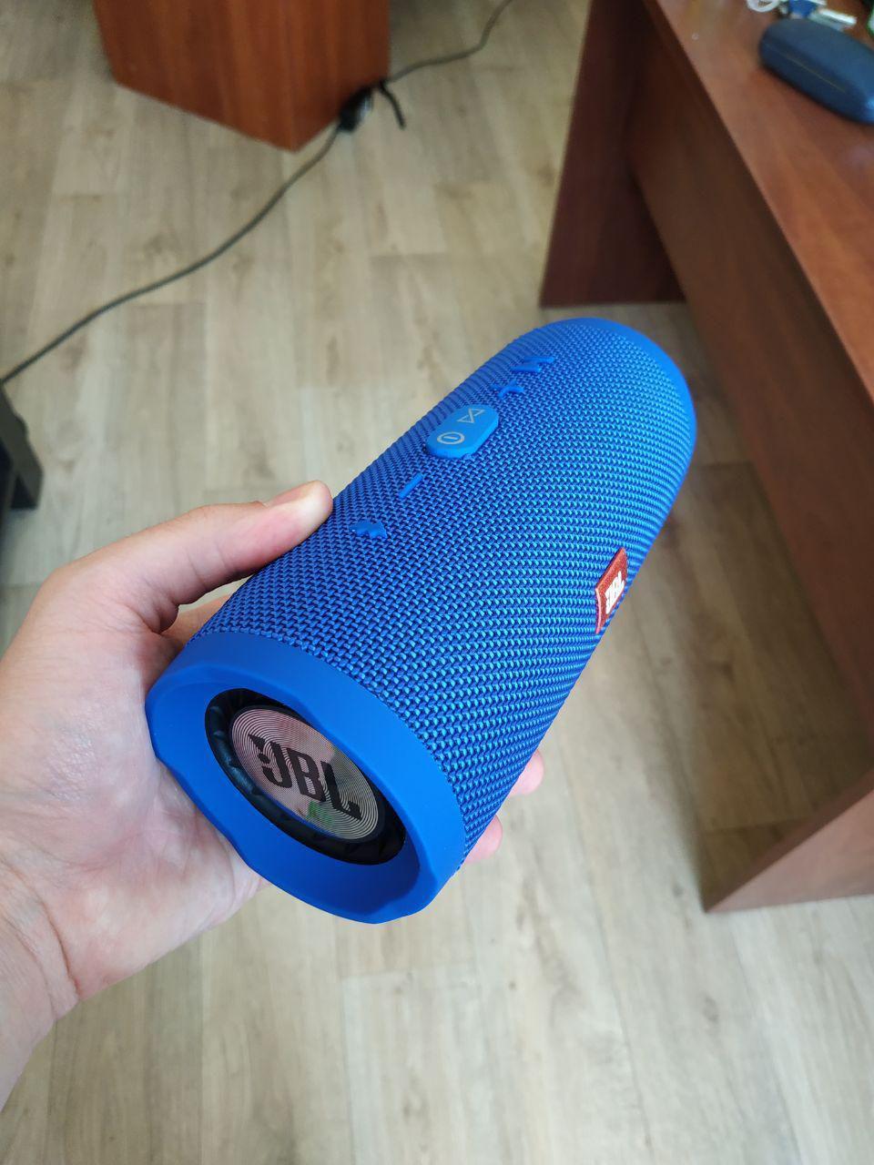 Портативная Bluetooth КолонкаJBL Charge 3 mini синяя, беспроводная джбл, фото 1