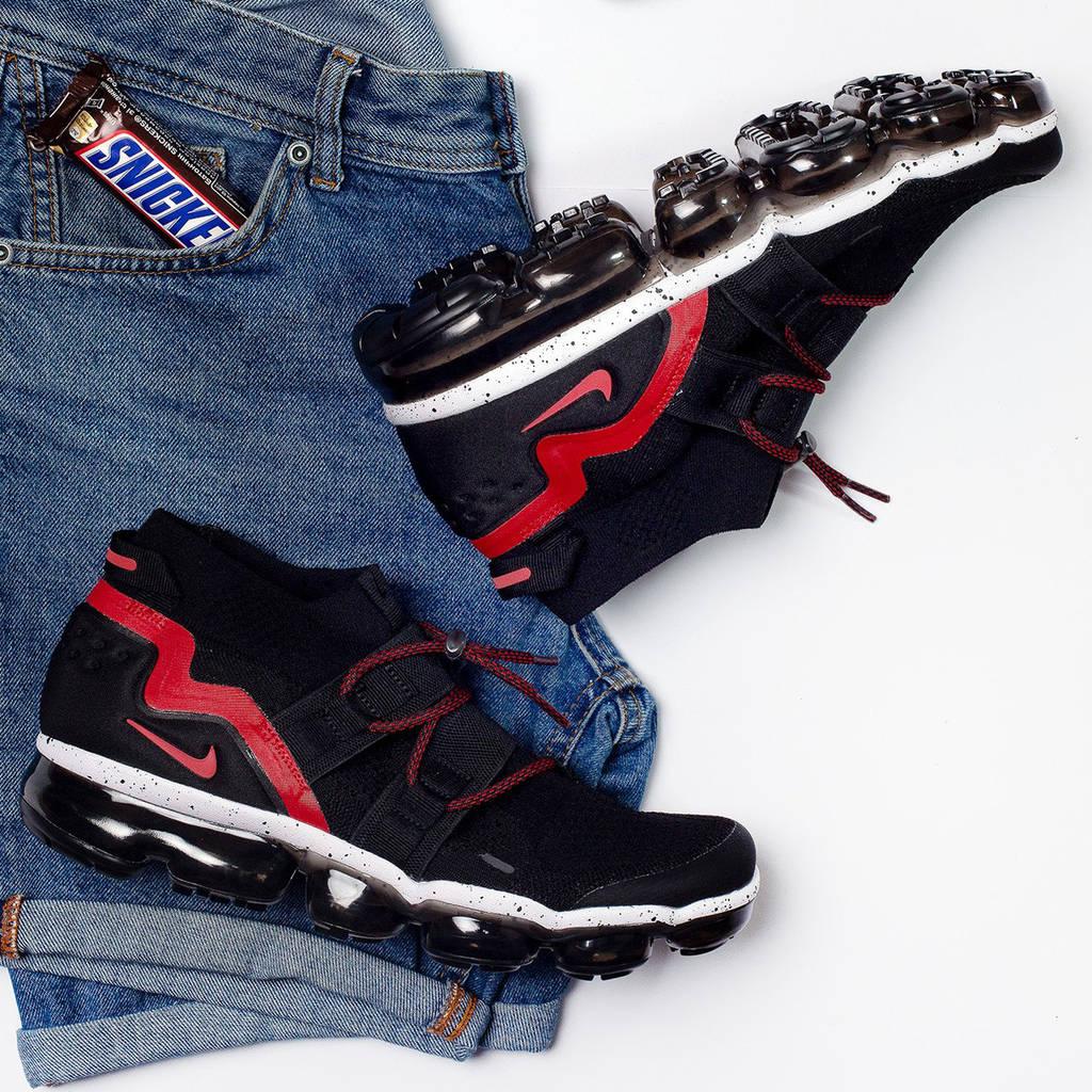 Nike Air Vapormax Flyknit Utility Black Red (реплика)