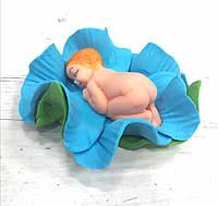 Новорожденный в цветочке мальчик или девочка Украса - 01032