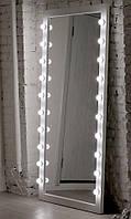 Зеркало с подсветкой Lukas ДСП Белое 16 ламп (Markson TM)