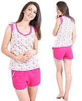 Пижама женскаякомплект домашней одежды хлопковая майка и шортики