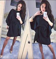 Нарядное платье - туника черного цвета
