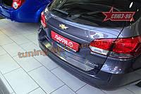 Накладка на наруж. порог багажника без логотипа Союз 96 на Chevrolet Cruze 2009 хэтчбэк