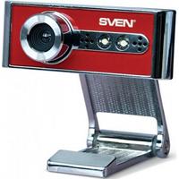 Веб-камера Sven IC-970 Web со встроенным микрофоном Silver/Red