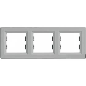 Рамка 3-а вертикальна Алюміній Asfora Schneider Electric