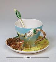 Фарфоровая Чайная пара Белочка