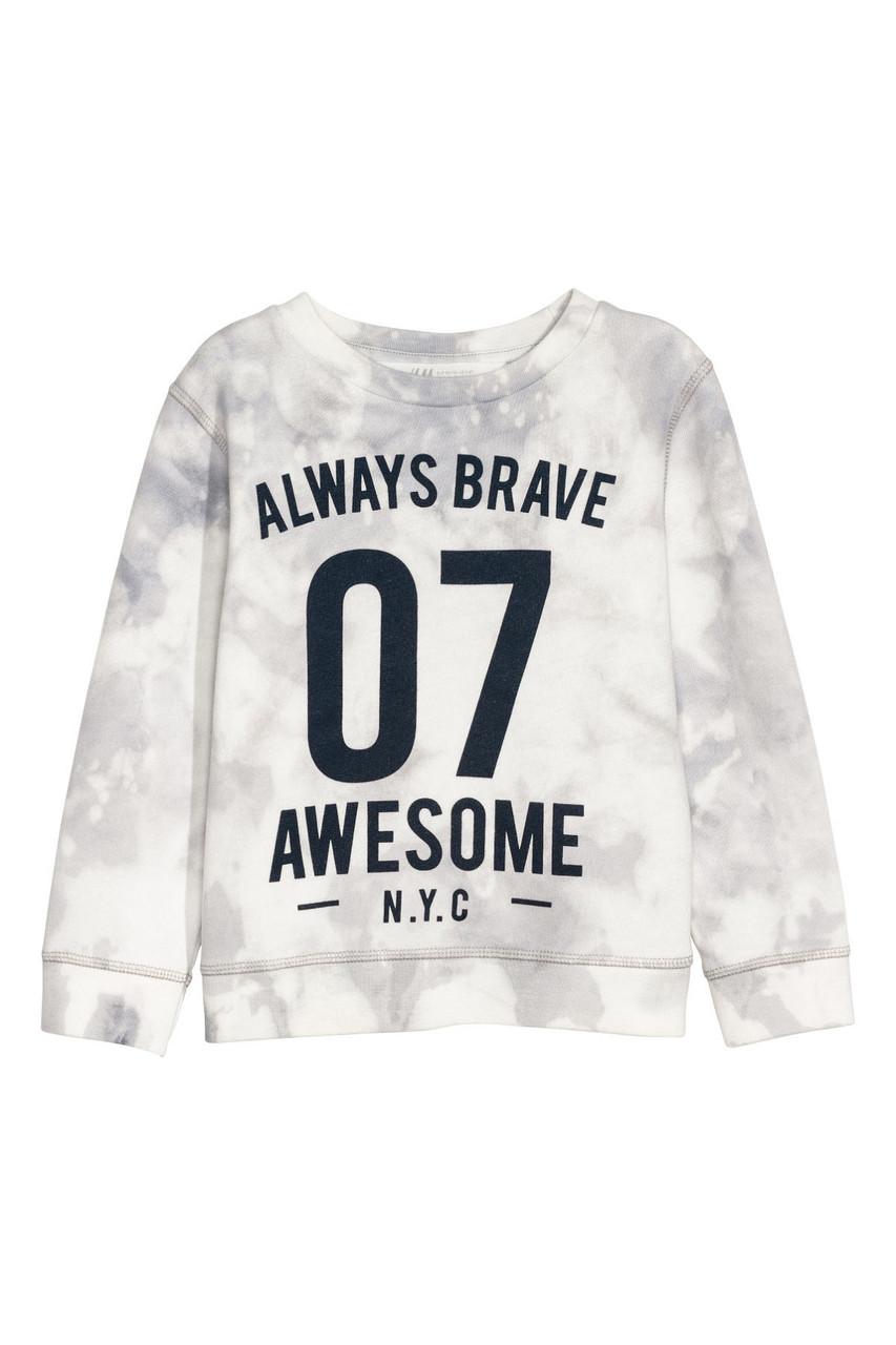 Свитшот H&M Sweatshirt with Printed Motif 8-10 лет