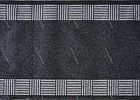 Ковровая дорожка на резиновой основе Греция, цвет серый темный