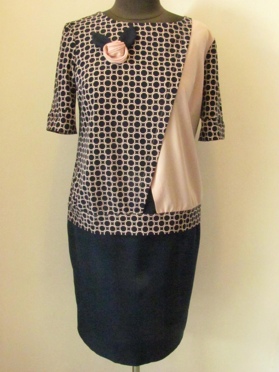 Стильный костюм с юбкой подойдет для делового и повседневного образа в стиле smart casual, р.50 код 2085М
