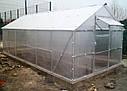 Теплица двускатная 4х6 под пк 10 мм стандарт (15 лет гарантии), фото 6