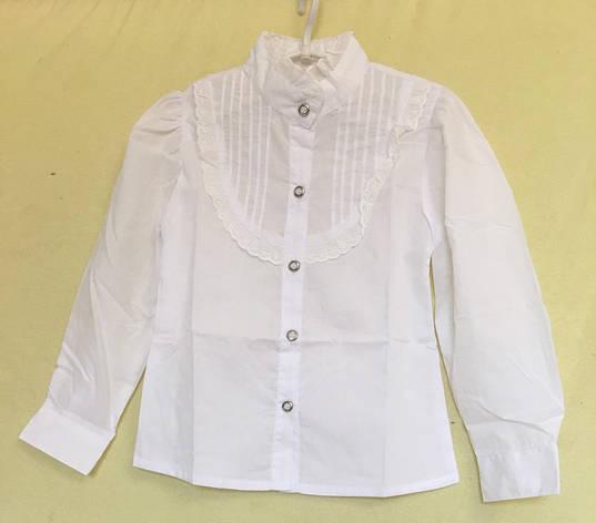 e831d4eafbf Блузка для девочки с длинным рукавом 6-10 лет белая   продажа
