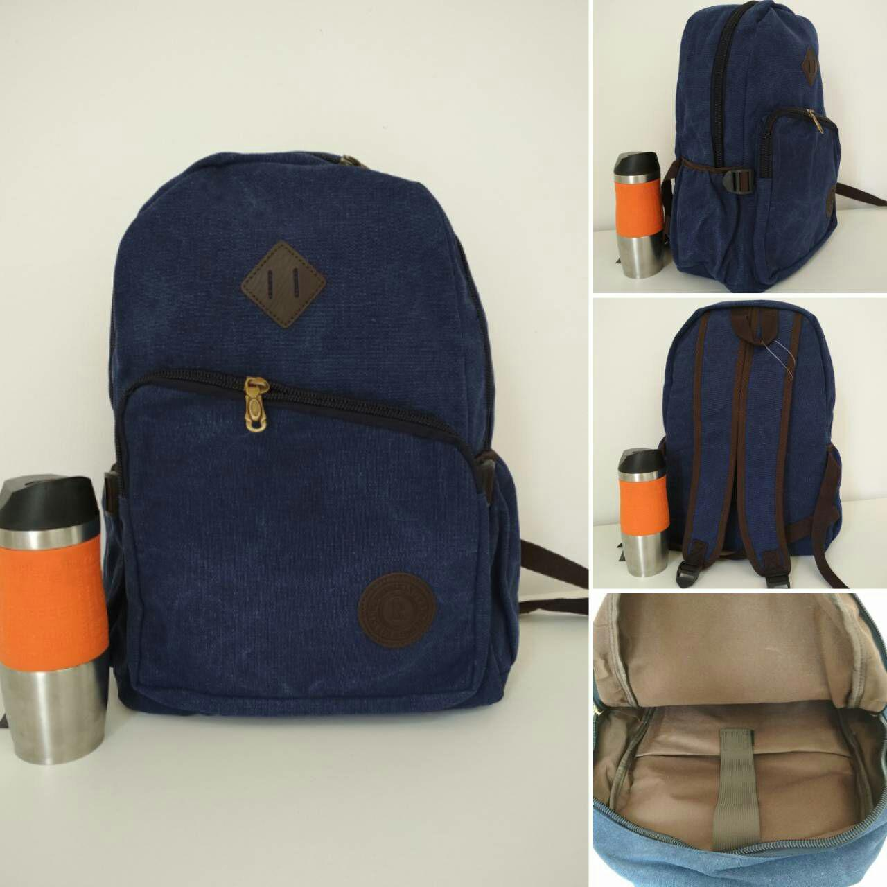 Школьный рюкзак с широкими лямками и косым наружным карманом 43*30*19см