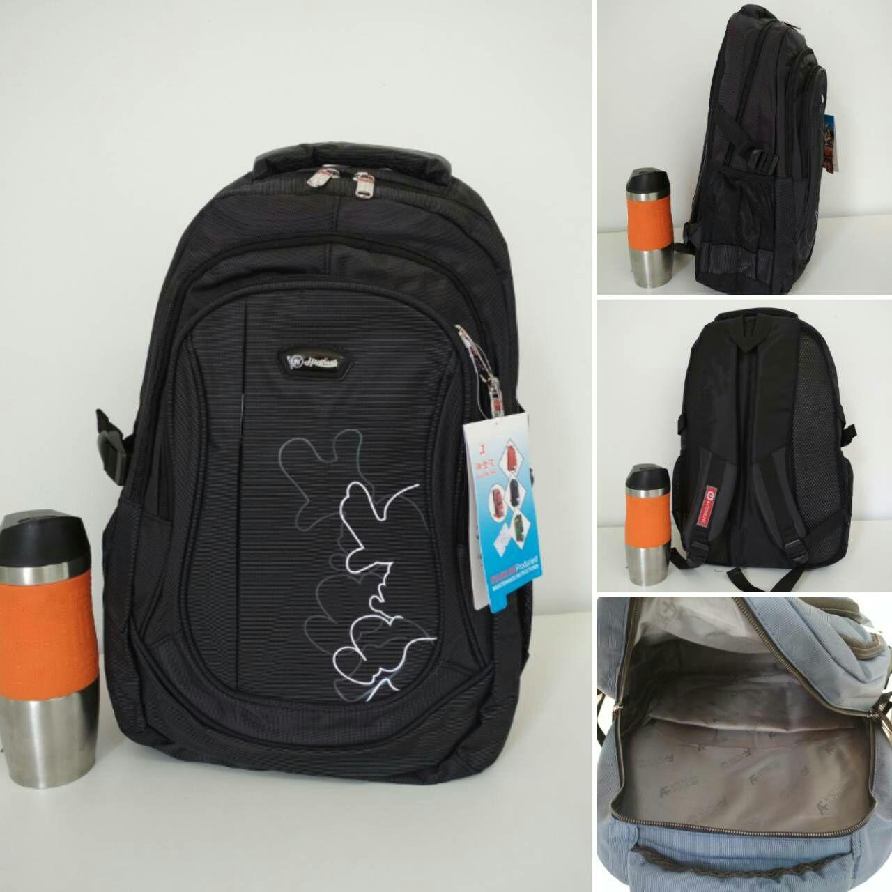Рюкзак для школьника с потайным карманом и эмблемой 45*32*15 см